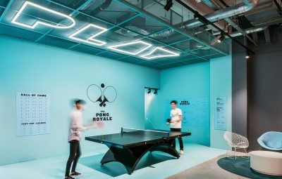 Table tennis at the Communal Area