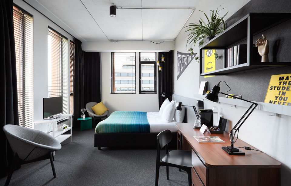 The Student Hotel Amsterdam City Hotel Accommodation Rooms