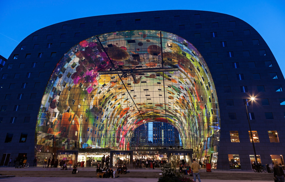 Netherlands, South Holland, Rotterdam, Markthal